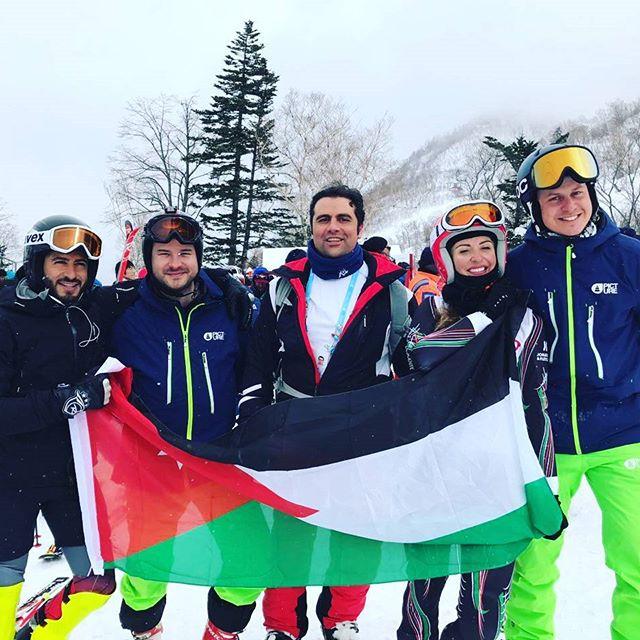 Hokkaido Ski Club coaches Jordan Alpine Ski Team at the 2017 Sapporo Asian Winter Games