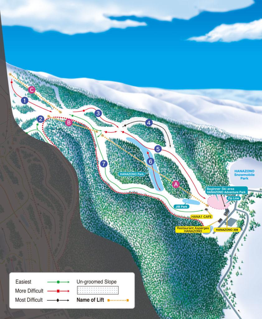 Niseko Hanazono Trail Map