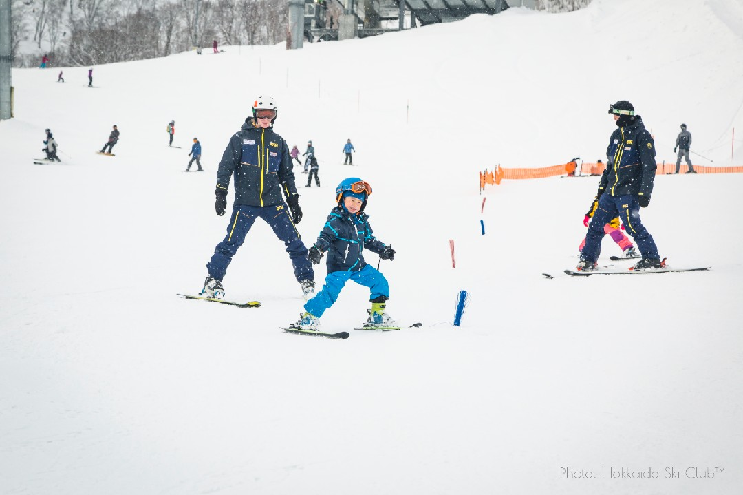 One of our kids in ski training