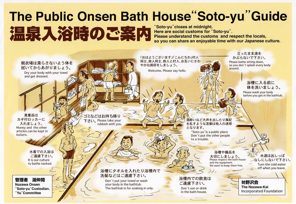 A guide on onsen manners