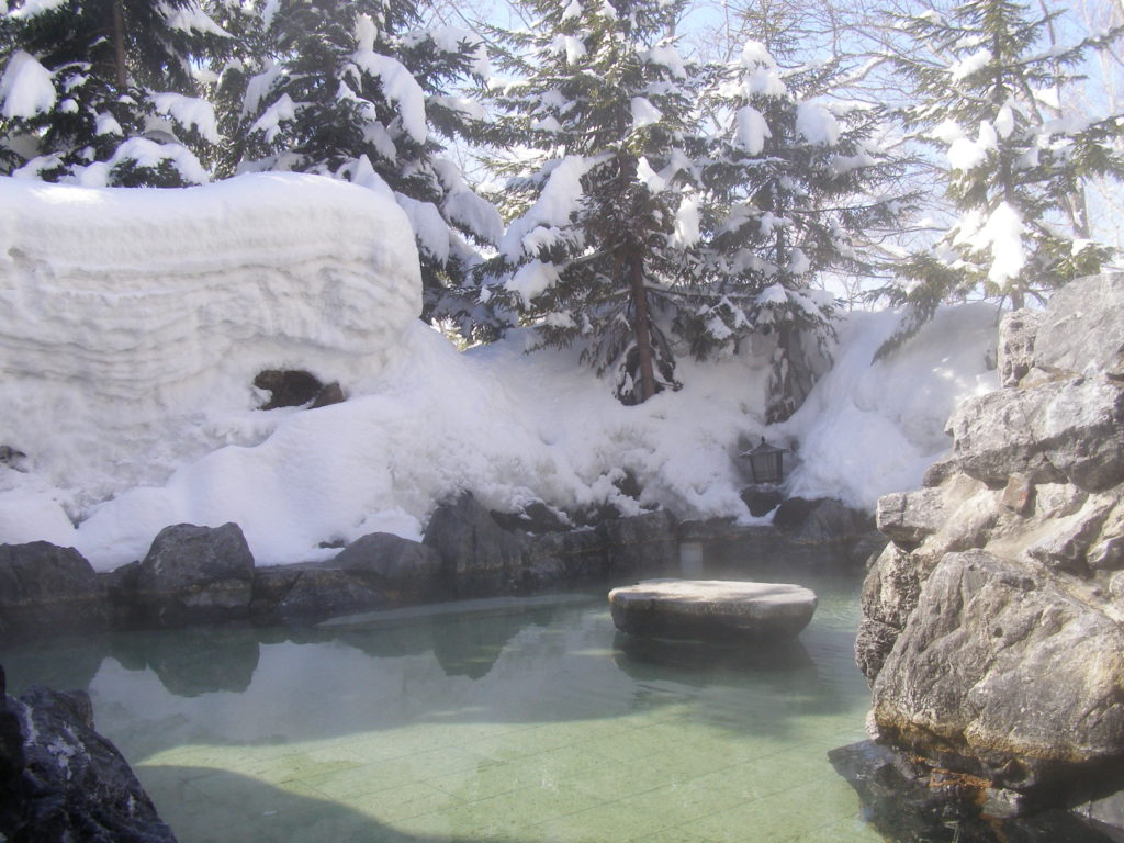 Iroha's outdoor onsen pool