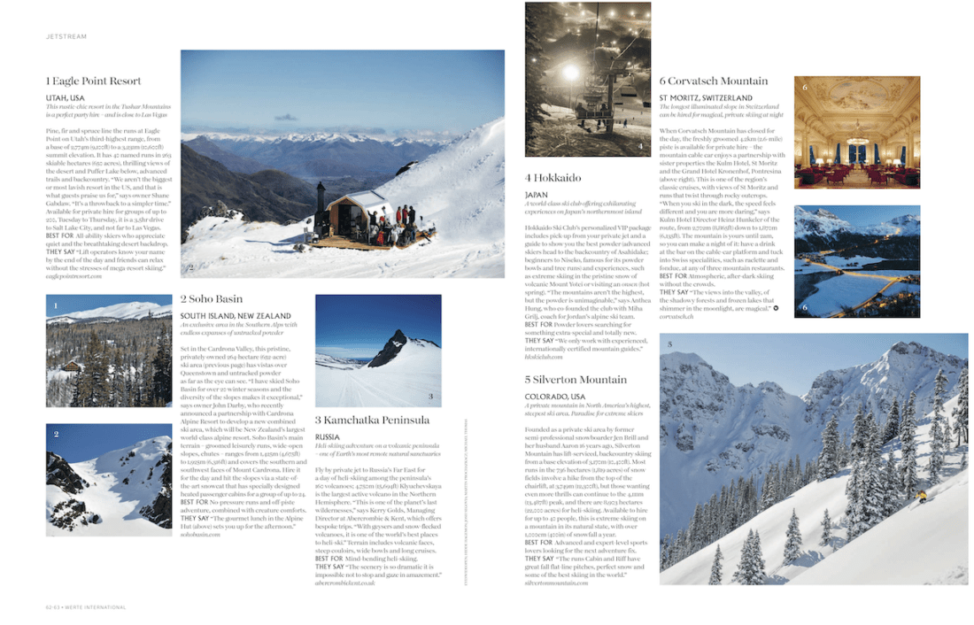 Hokkaido Ski Club, Werte International Press Publication
