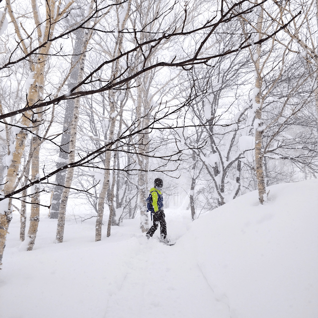 Having packed all of her winter travel essentials, Tanya can enjoy the famous Niseko powder of Hokkaido all day long.