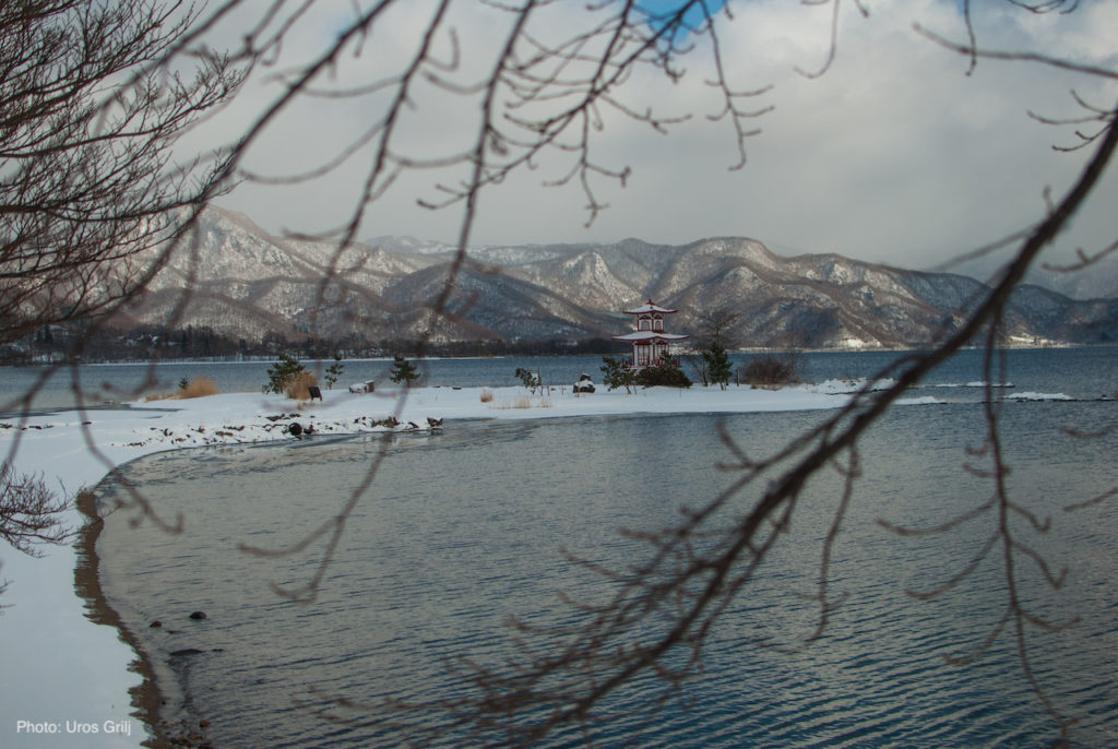 Lake Toya in the winter