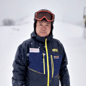Atsushi Masuhara, Japanese English bilingual ski instructor and backcountry guide, Hokkaido Ski Club, Niseko, Japan