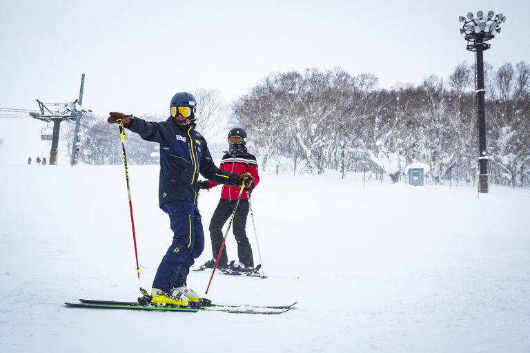 Skiing lesson with Hokkaido Ski Club Instructor