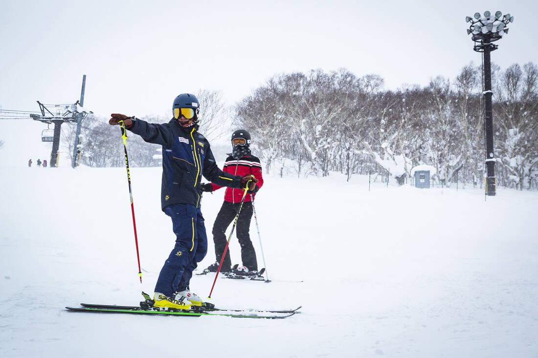 Skiing lesson with Hokkaido Ski Club Instructor
