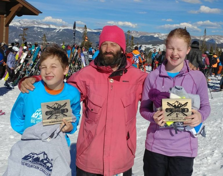 Hokkaido Ski Club Snowboard Instructor, Adir Sharon, with his award-winning young athletes