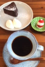 Cake and Coffee on table