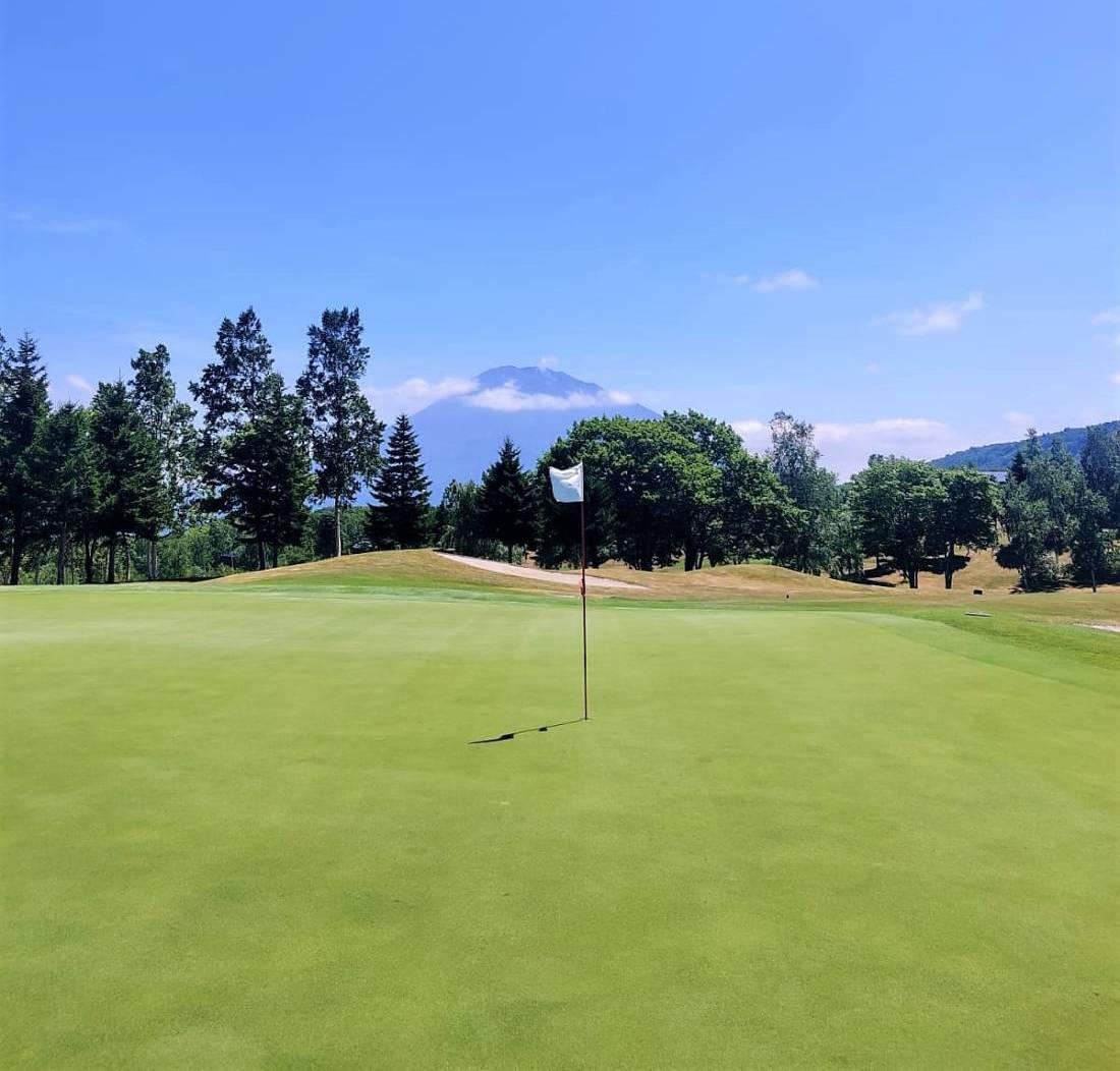 Golf course in summer in Niseko