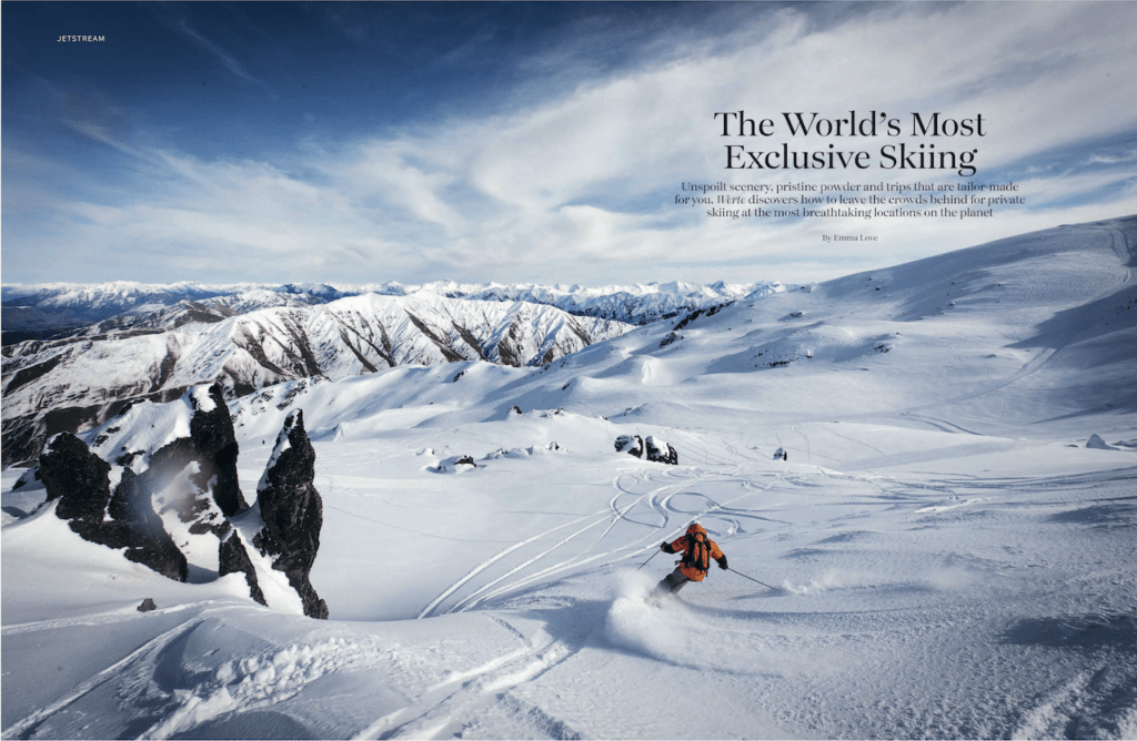 Skiing in the world's most exclusive resorts