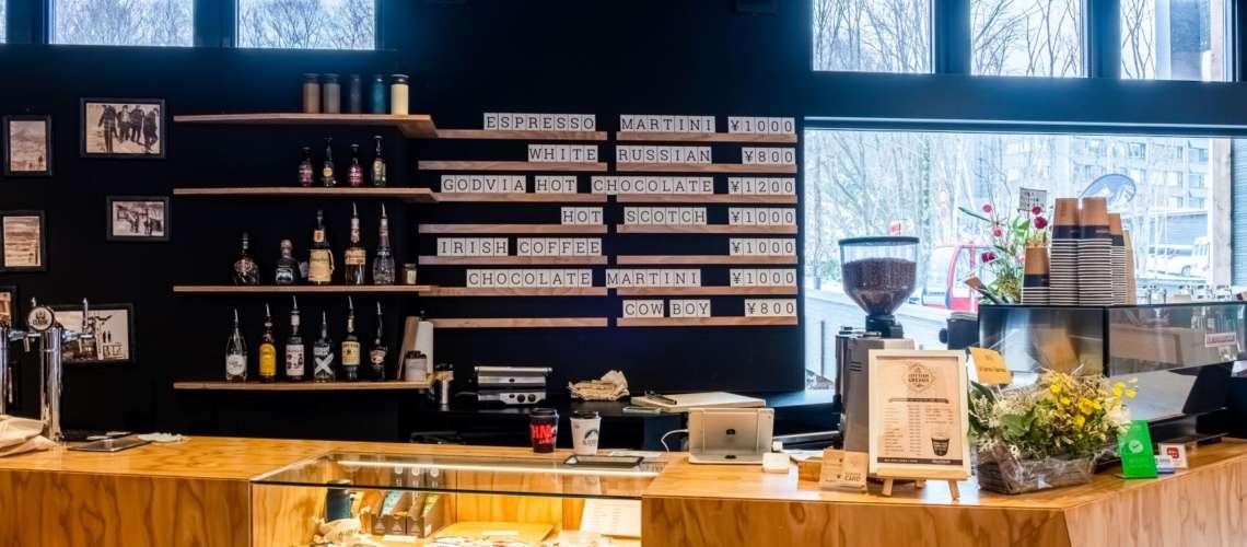A coffee shop in Niseko